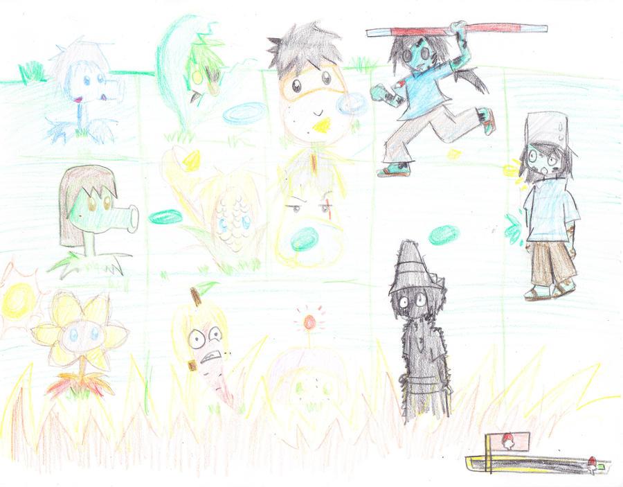 Plants vs zombies Naruto style by nasaku