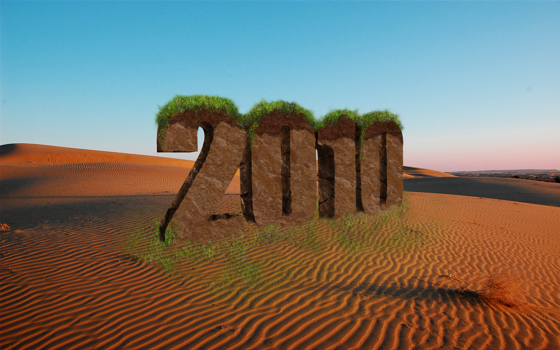 Celebrate 2010 with 3D text by ritamd