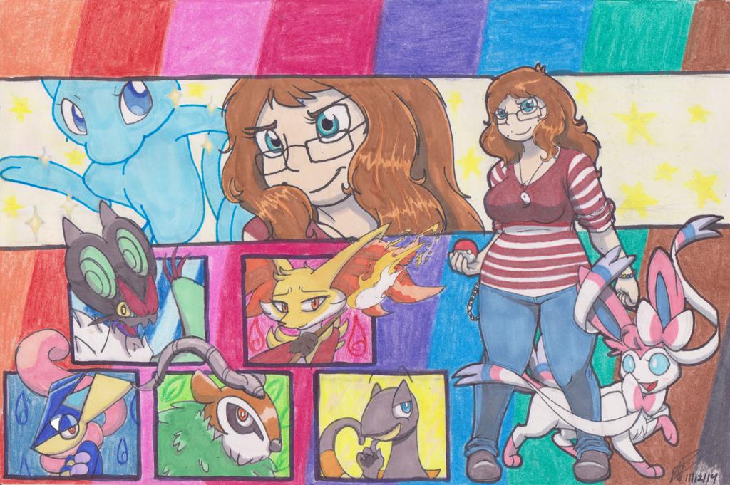 my pokemon x team by payero01