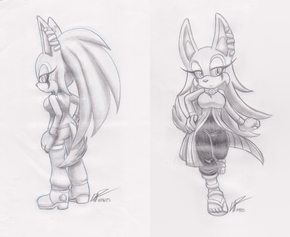 Commission Sketches of Ma'at by payero01