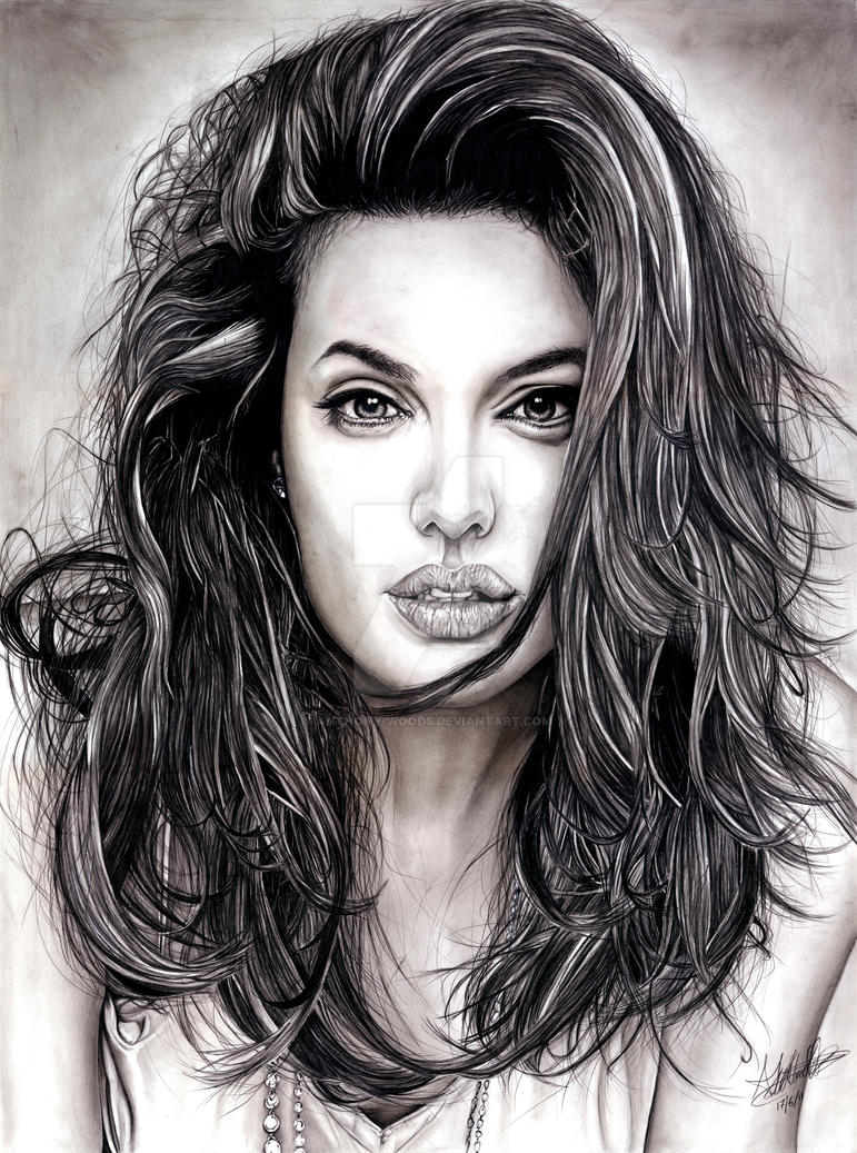 Angelina jolie by anthony woods