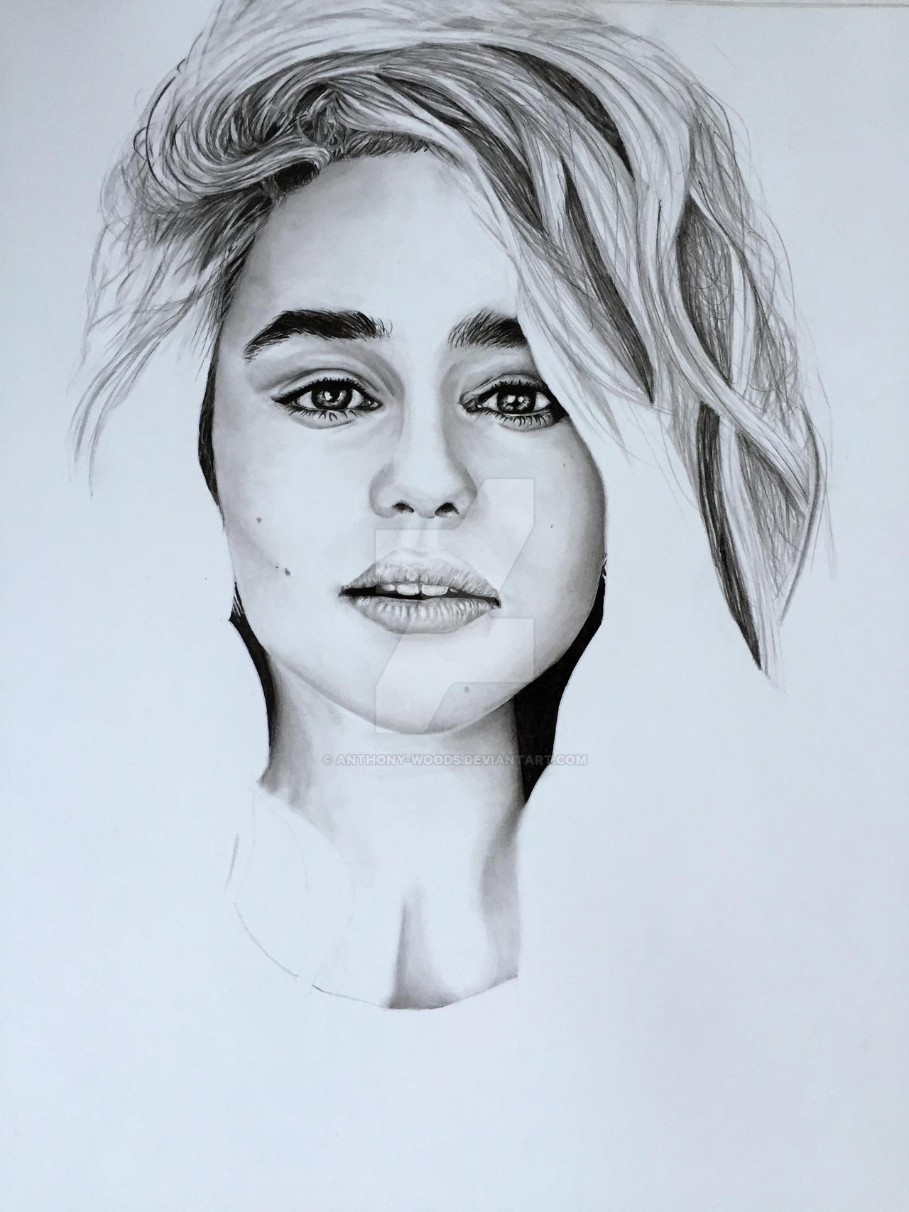 Emilia Clarke WIP 2 by Anthony-Woods