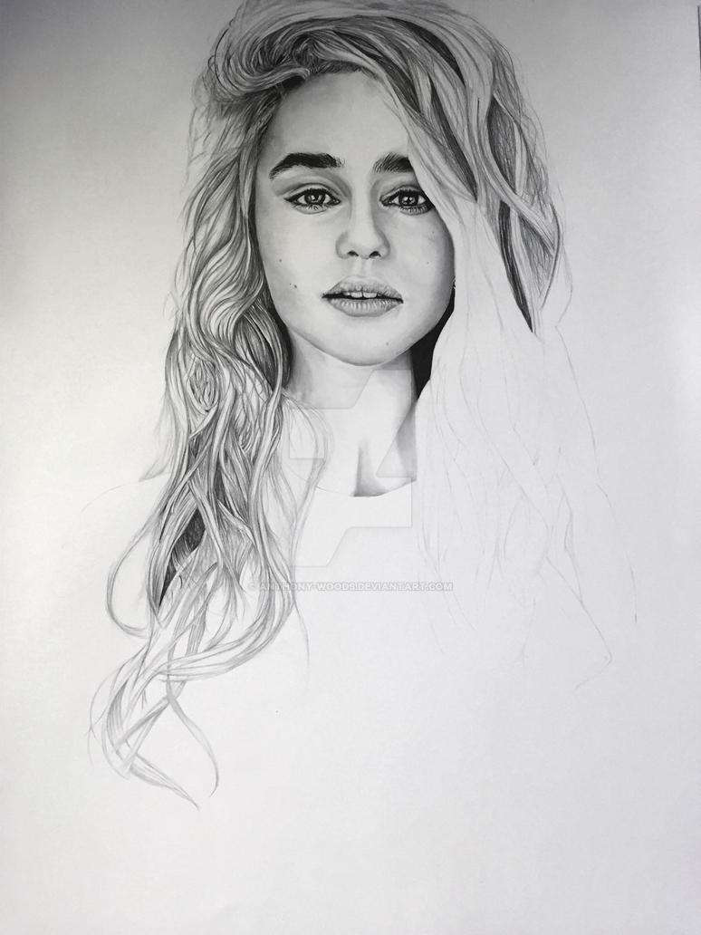 Emilia Clarke WIP 3 by Anthony-Woods