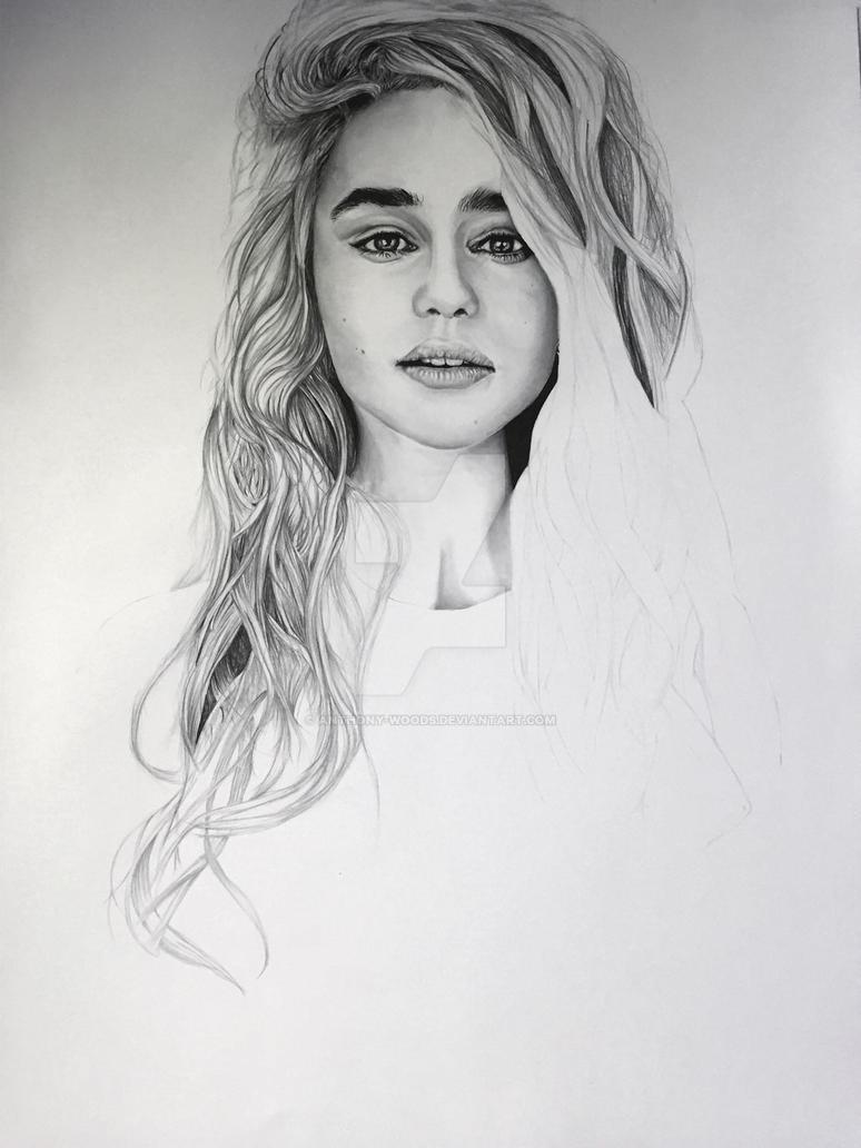 Emilia Clarke WIP 3 by Anthony-Woods