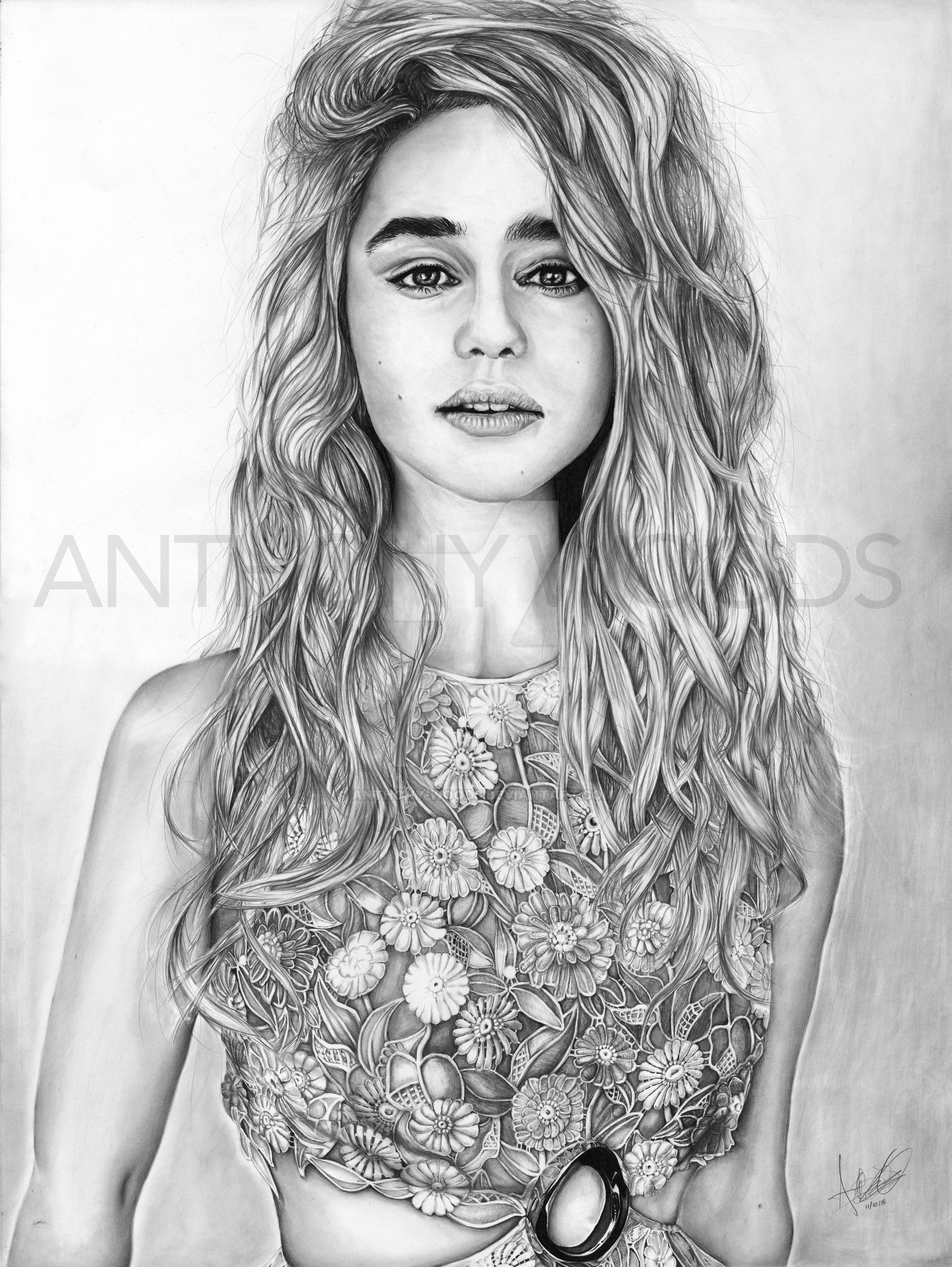Emilia Clark by Anthony-Woods