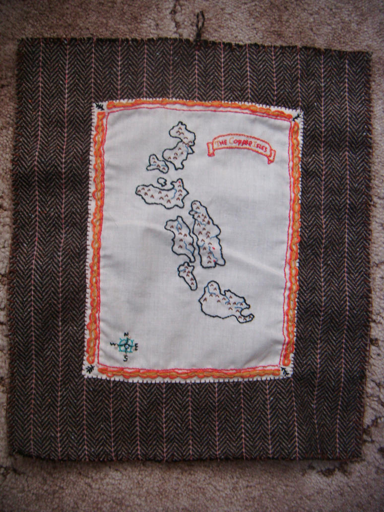 Copper Isles Map Scroll by Larads