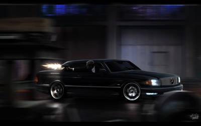 Mercedes W126 Mafia Getaway by ollite20