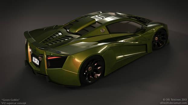 V12 supercar concept - Green Goblin - 1