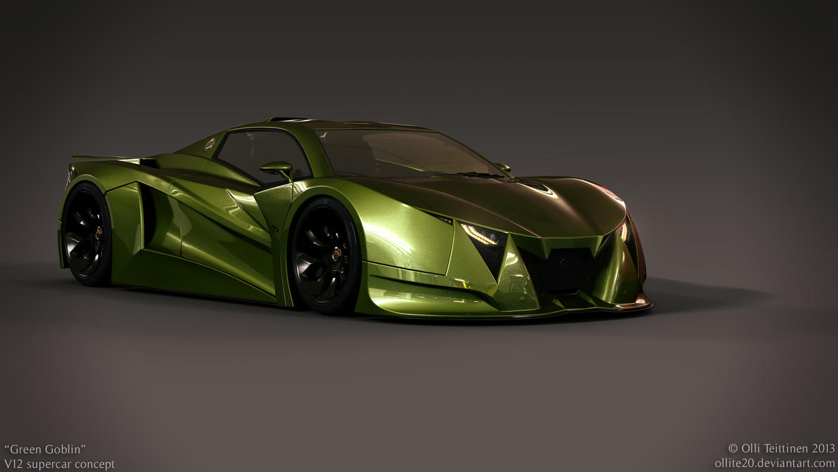 V12 supercar concept - Green Goblin - 3 by ollite20