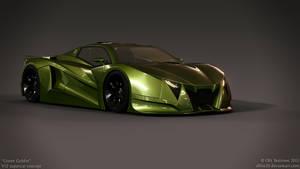 V12 supercar concept - Green Goblin - 3