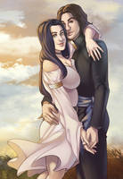 Commission - Lovely couple by multieleonora96