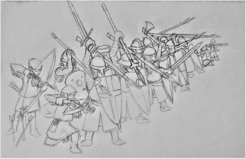Cruzader's Shield Wall by Vladarms