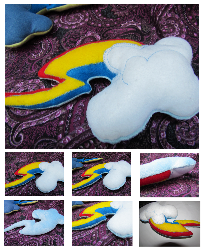 Rainbow Dash Cutie Mark Plush Pillow by buttsnstuff