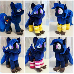 Neutrino Custom Oc Plush by buttsnstuff