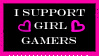 Girl Gamers Stamp by HisPaperAngel