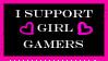 Girl Gamers Stamp by HisPaperAngel