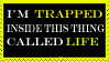 I'm trapped stamp by HisPaperAngel