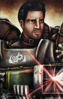 Fallout Portraits - Paladin Danse by OliverDemers