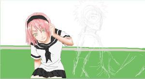 Gakuen- Sakura and Naruto WIP