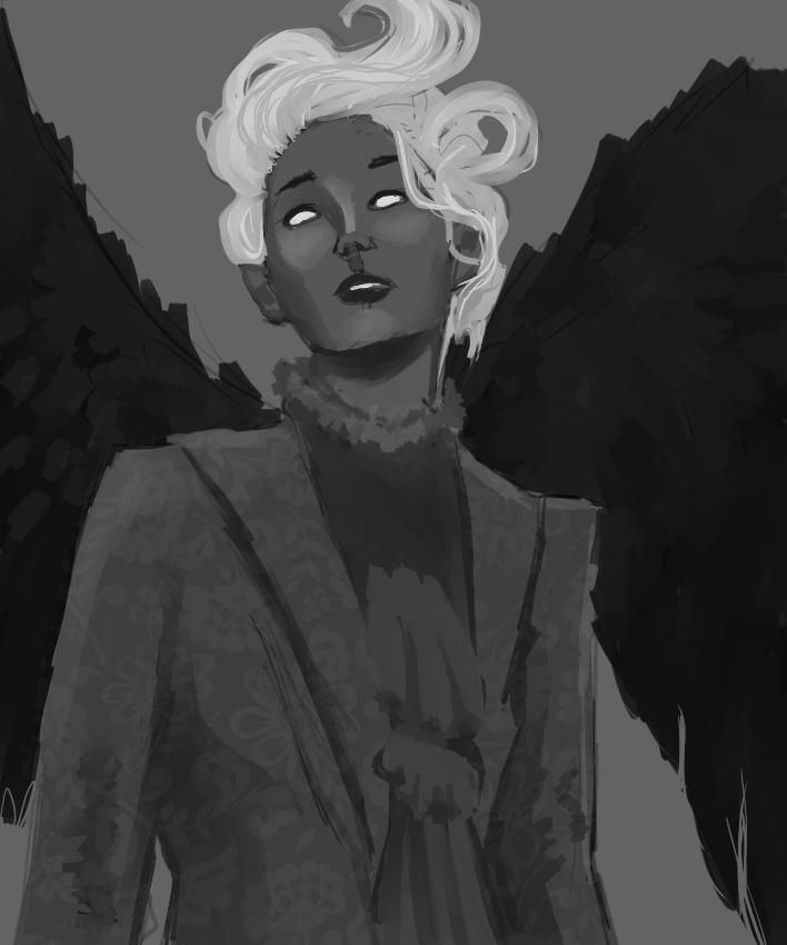 Lady in grey by Janttuman