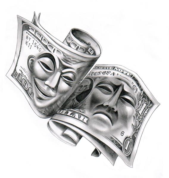 Эскизы тату с деньгами