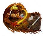 Balrog versus Gandalf color version