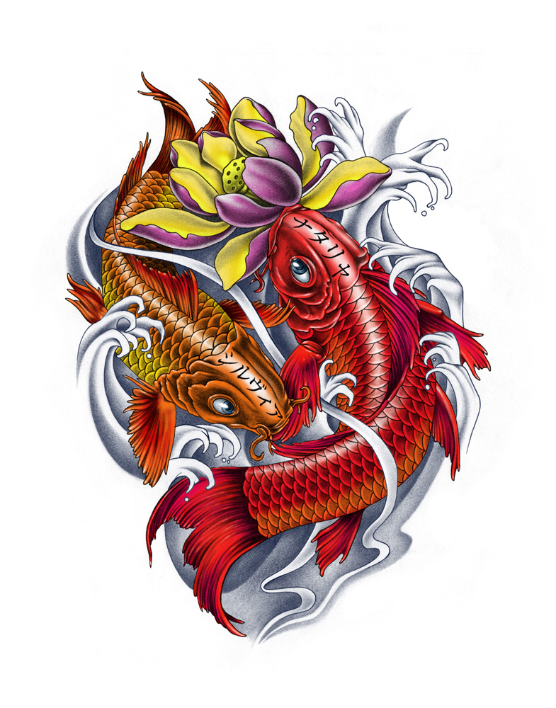 top colorful koi fish drawings images for pinterest tattoos