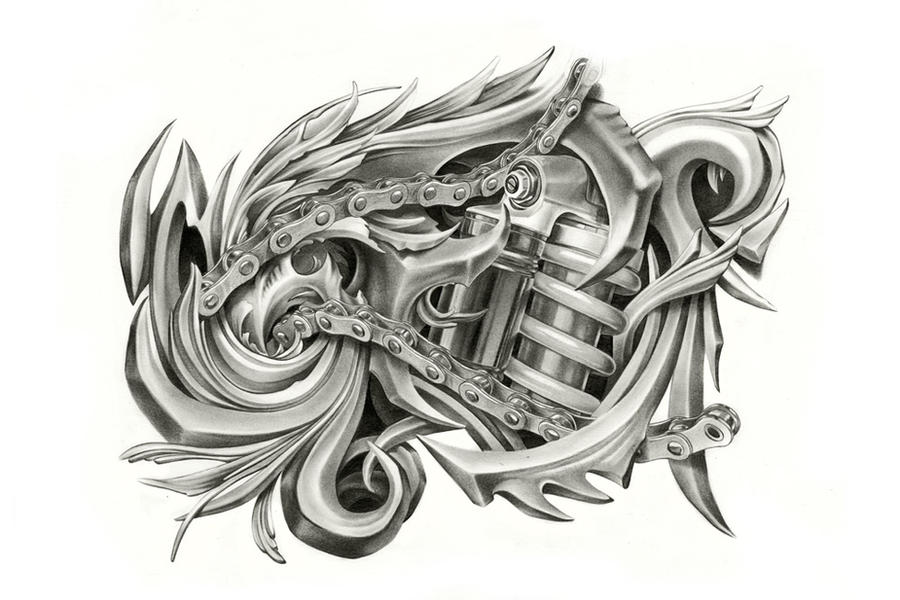 how to draw biomechanical art