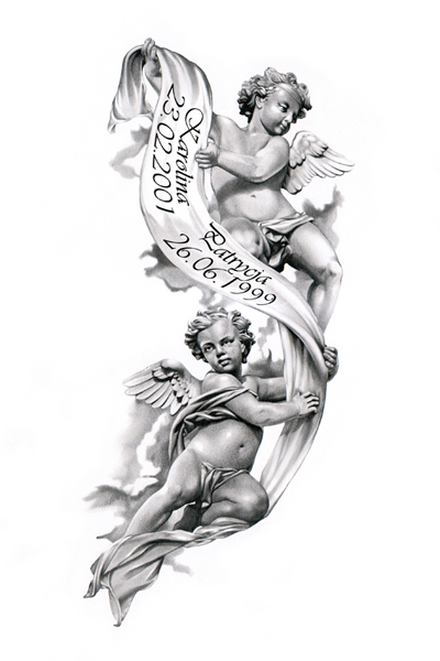 Tattoo pictures baby angels quotes