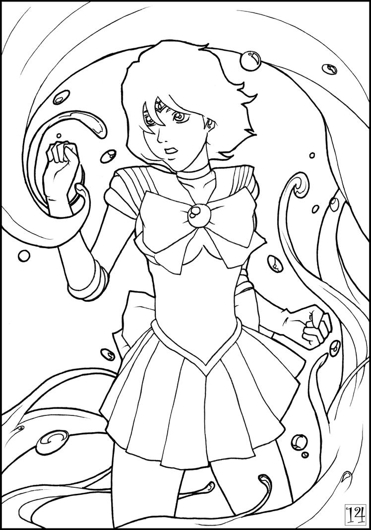 Sailor Mercury Coloring Pages Sketch Coloring Page