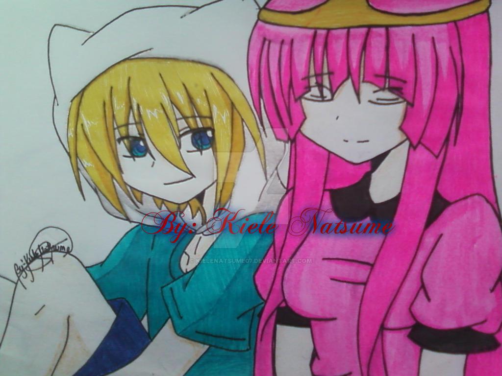 Finn and Princess Bubblegum anime ver. by KieleNatsume07 ...