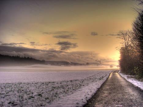 Winter Sunset by kkeman