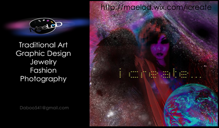 MaeLoD Business card (front)