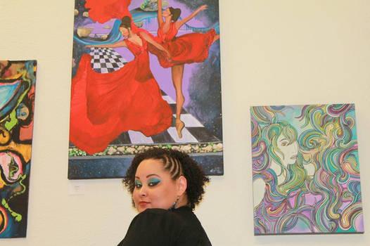 MaeLoD at Imagine Cafe art show