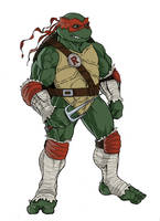 teenage mutant ninja turtles sketch of Raphael by KingJames06