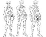 some rough concepts of pumyra in armor