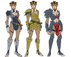colored version of Pumyra armor sketches by KingJames06