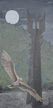 Gandalf Escaping Orthanc tower