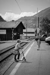 train track scooter