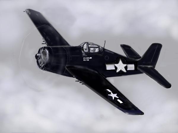 Grumman F6F Hellcat by davincipoppalag
