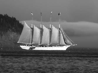 The Margaret B Todd under sail by davincipoppalag