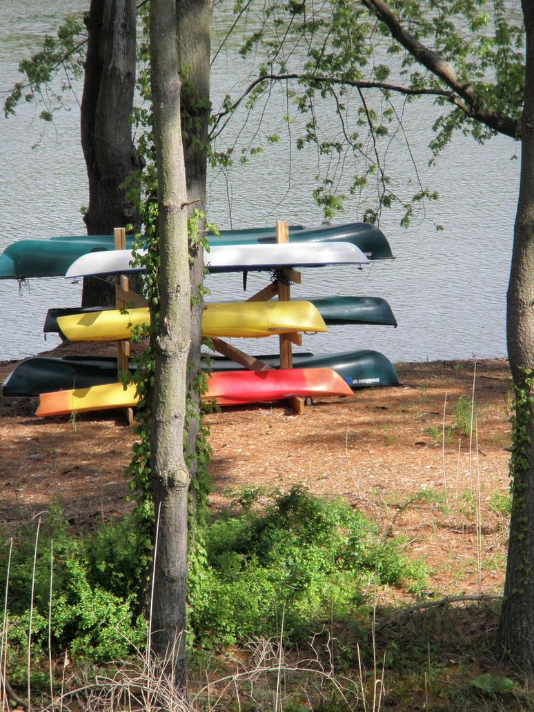 Kayaks on the Housatonic by davincipoppalag