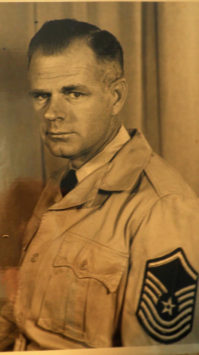 Senior Master Sergeant Albert E.Beaty USAF by davincipoppalag