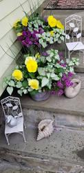 My porch plants by davincipoppalag