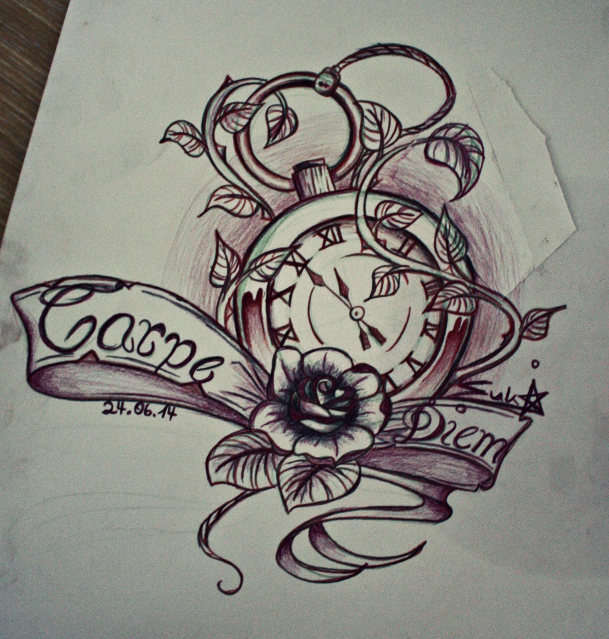 Carpe Diem Tattoo Design By Sukis Brain Artwork On DeviantArt
