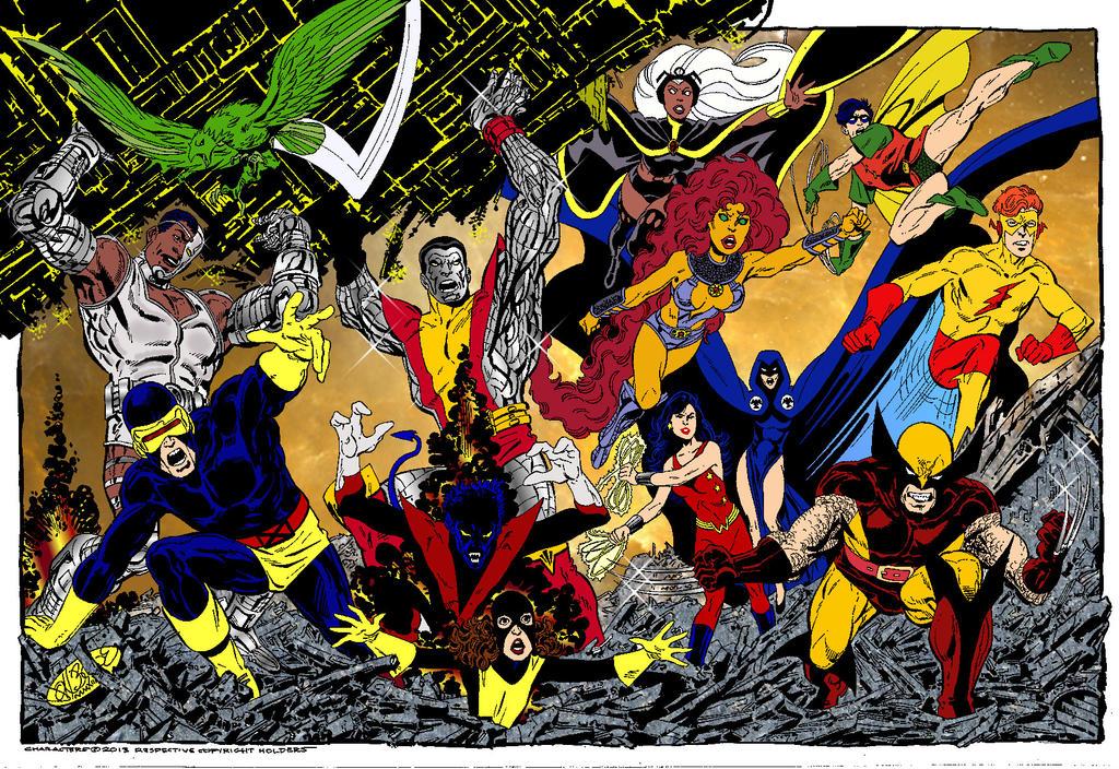 Teen Titans Vs X Men 121