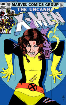 Kitty Pryde and Lockheed X-men Cover by Paul Smith