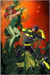 Batgirl Vs Poison Ivy by George Perez