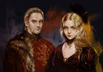 Tywin and Joanna Lannister by BellaBergolts