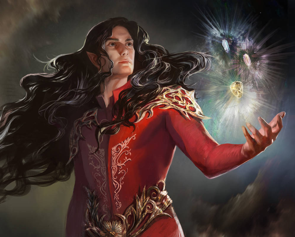 Feanor and the Silmarils by BellaBergolts